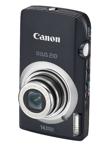 Canon IXUS 210 Digital Camera - Black (14.1 MP, 5x Optical Zoom) 3.5 Inch PureColor Touch LCD