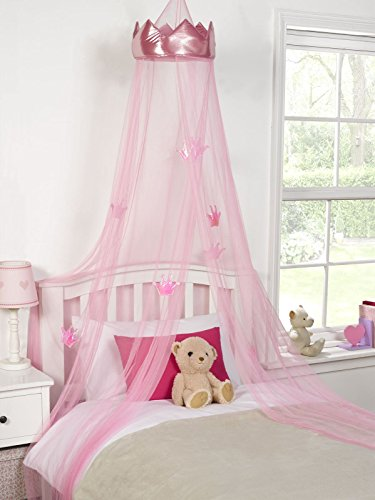 ideal-textiles-pink-princess-crown-bedroom-bed-canopy-girls-bedroom-makeover-30cmx230cm-by-ideal-tex