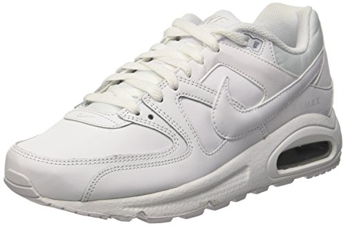 Nike Air Max Command Leather Scarpe da ginnastica, Uomo, Bianco (Weiß (White/Metallic Silver 102)), 42 1/2
