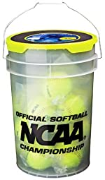 Worth B618 Six Gallon Bucket with 18 NC12BB Fastpitch Softball NCAA Training Softballs
