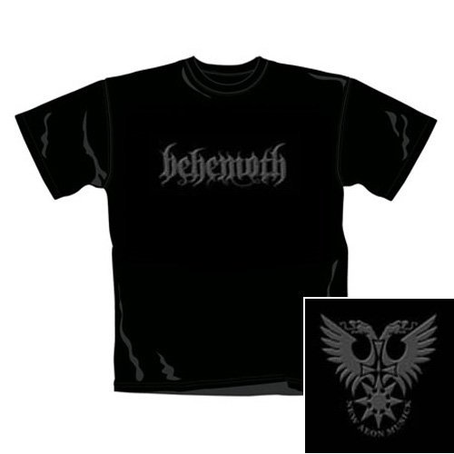 T Shirt Behemoth Con Logo (Nero) - Medium