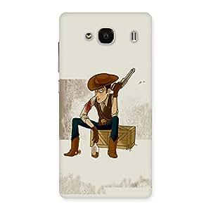 Ajay Enterprises Drunk Cowboy Back Case Cover for Redmi 2