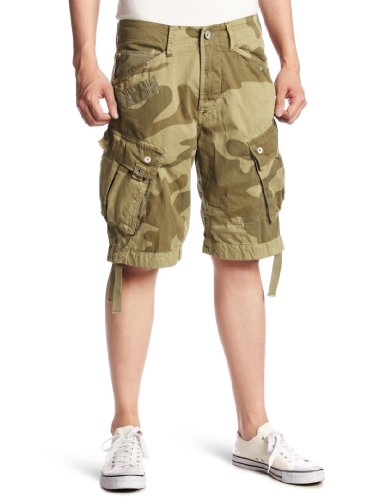 G-Star Raw - Mens RR Camo Shorts in Grege, Size: 31, Color: Grege