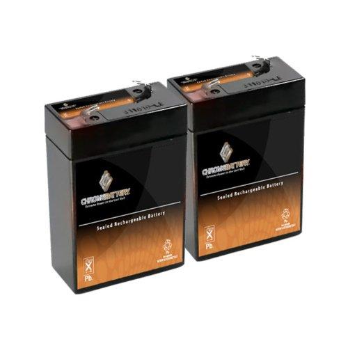 6V 4.5Ah Sealed Lead Acid (Sla) Battery - T1 Terminals - For Zb-6-4.5 - 2Pk