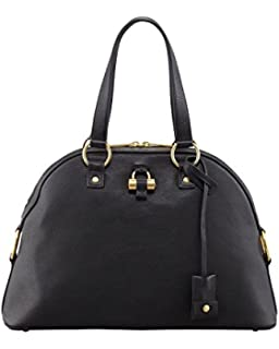 Saint Laurent YSL Large Muse Handbag Black Dome Satchel: Handbags ...