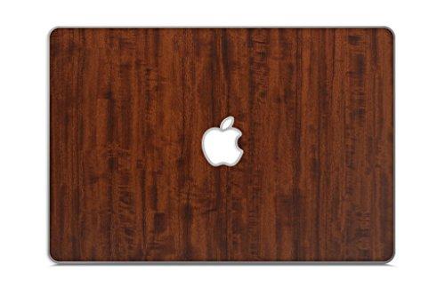 """iCarbons Dark Wood Grain Vinyl Skin for MacBook Pro 15"""" Retina Top Only"""