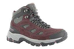 Hi-Tec Women\'s Logan Mid WP Hiking Boot, Plum/Cool Grey/Elderberry, 8 M US
