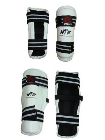 WTF Approved Competition Taekwondo Shin Pads - Large