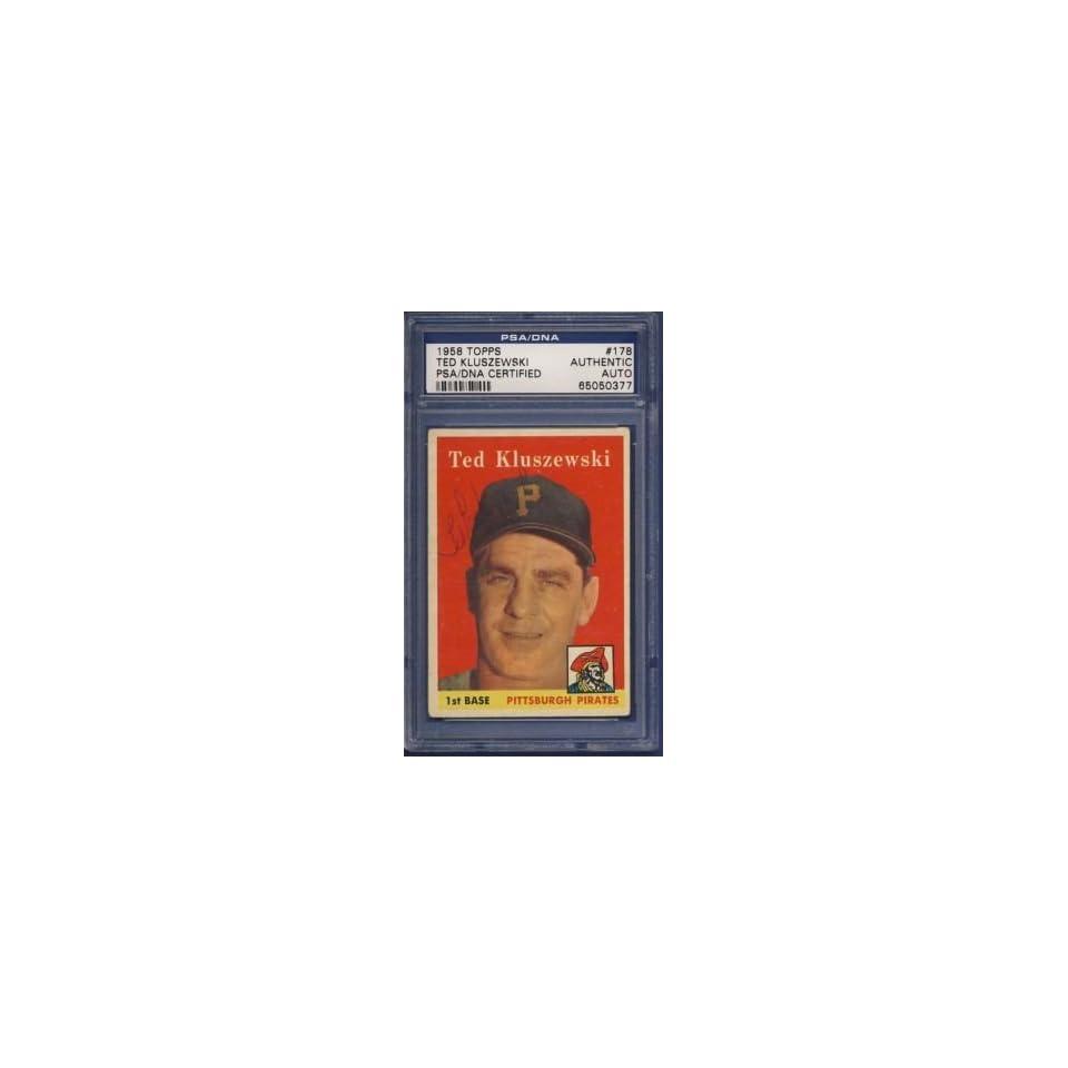 1958 Topps TED KLUSZEWSKI Auto/Signed Card PSA/DNA