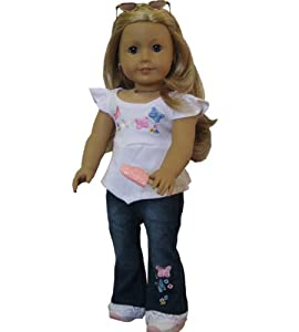 Jeans Set fits 18 Inch Doll Clothes from Doll Club of America LLC