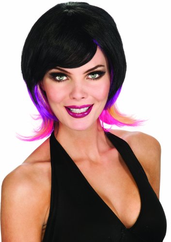 Rubie's Costume Colorful Streaks Adult Costume Wig