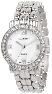 Ellen Tracy Women's ET5029STK Silver Bracelet Mother-Of-Pearl Dial Watch