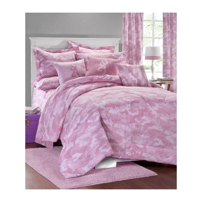 Pink Camo Bedding Twin 3301 front