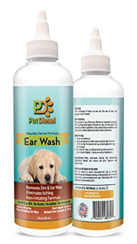 Pet Diesel Dog Ear Wash | Naturally Derived Formula | Coconut & Palm Oil & Citrus Extracts | Effective & Non Irritating Ear Cleanser | Ideal Ear Wax Removal, Itchy Ears, Yeast & Odor Elimination (Dog Ear Wax Remover compare prices)