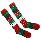 Polka Dot Jingle Bell Socks