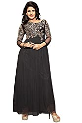 Silvermoon Girl's & Women's Net Emroidered Gown-sm_NMPHTA9001_Black_free size