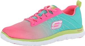 Skechers Flex Appeal - New Arrival Women's Walking Shoe,Hot Pink/Turquiose,7 M US