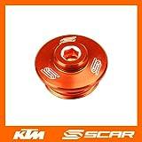 OIL FILLER PLUG KTM SX SXF SX-F EXC EXCF SMR 50 65 85 125 250 350 450 ORANGE