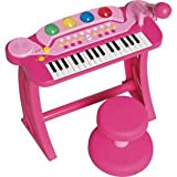 Chad Valley Singalong Keyboard, Stand and Stool - Pink