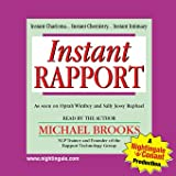 Instant Rapport by Michael Brooks (Nightingale Conant) 910CDS Abridged