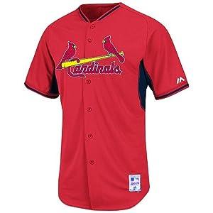 Yadier Molina #4 St Louis Cardinals MLB Youth Cool Base Batting Practice Jersey