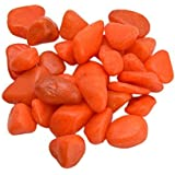 """25kg Orange """"B"""" Size Pebbles For Garden Decor Plant Home Decor Backyard Patio Pathway Indoor And Outdoor Gravel Soil Stone Pebbles Chips Decoration Fish Tank Substrate"""