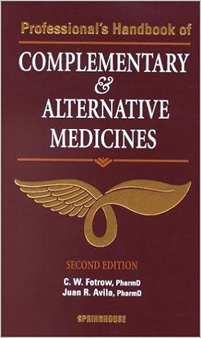 Complementary alternative medicine handbook
