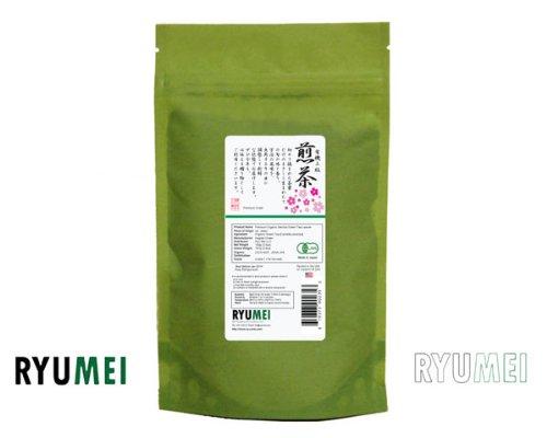 Ryu Mei Japanese Organic Premium Sencha Green Tea Leaves [Kyoto Standard] S1-100Pr 2X Packs