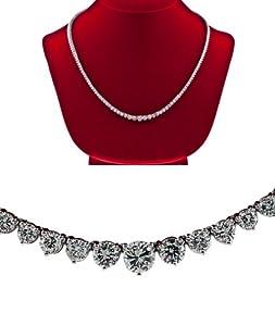 Diamond Tennis Necklace graduated F Vs-2 women ladies 16