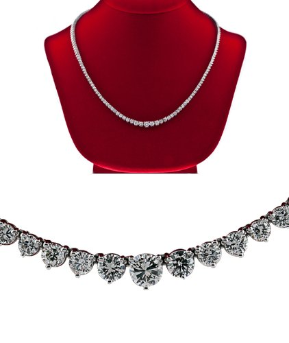 Diamond Tennis Necklace graduated F Vs-2 women