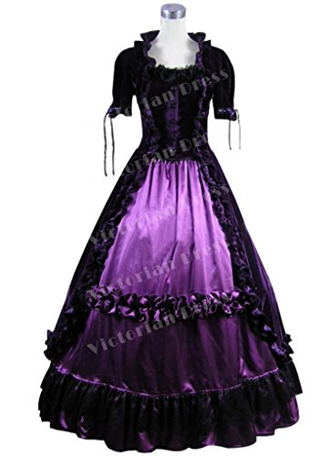 Luxury Victorian Gothic Velvet Ball Gown Dress Vintage Stage Punk Five Colors