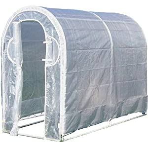 """Greenhouse - Deck and Patio (White) (6'6"""" H x 8' W x 4' D)"""