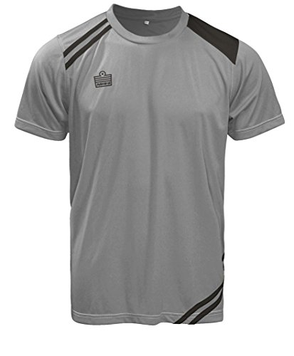 Admiral Cup Ready-to-Play Soccer Jersey, Silver/Black, Adult Medium