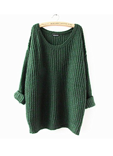 arjosar-womens-fashion-oversized-knitted-crewneck-casual-pullovers-sweater-2-green