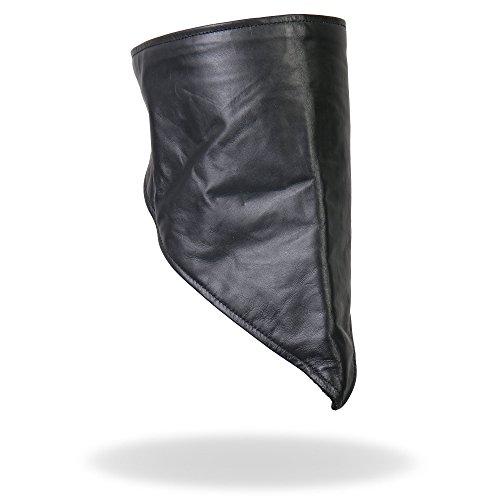 Hot Leathers Leather Neck Warmer with Fleece Lining (Black) (Hot Leathers Face Mask compare prices)