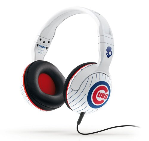 Skullcandy MLB Hesh 2.0 Chicago Cubs with Mic Sports Collection Wired Headphone - White at Amazon.com
