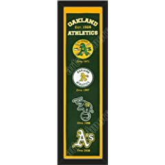 Heritage Banner Of Oakland Athletics-Framed Awesome & Beautiful-Must For A... by Art and More, Davenport, IA