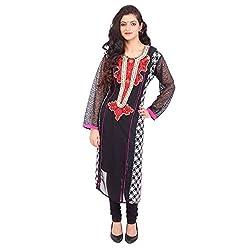 Radhya Women's Unstiched Kurti (Pan02_Multi Color)