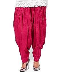 Shiva Collections pink cotton patiala salwar