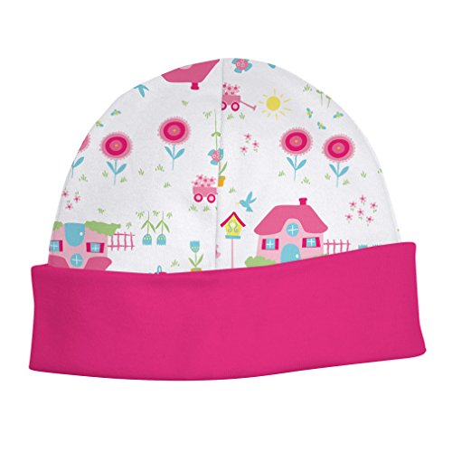 """Baby Girl'S Pink """"Garden Home"""" Organic Cotton Knit Cap (3M) front-1068150"""