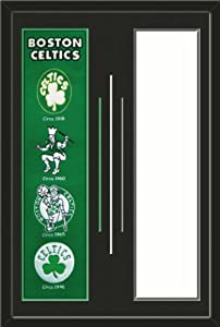 Boston Celtics & Your Choice of other Team Heritage Banner Framed-House... by Art and More, Davenport, IA