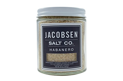 Jacobsen Salt Co, Habanero Flavor, Gourmet Infused Sea Salt, Hand-Harvested in Netarts Bay, OR, Made in the USA, 4.8 Oz (136 g) Jar (Infused Salt compare prices)