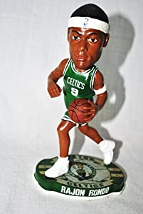 Forever Collectibles Boston Celtics Rajon Rondo #9 official NBA Road Bobblehead by forever