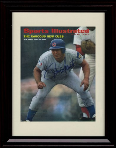 Framed Ron Santo Sports Illustrated Autograph Print - 6/30/1969 - Cubs at Amazon.com