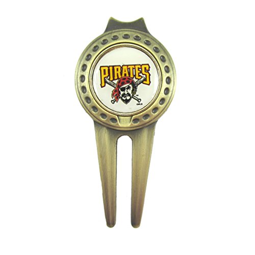 Pittsburgh Pirates Divot Tool with Golf Ball Marker