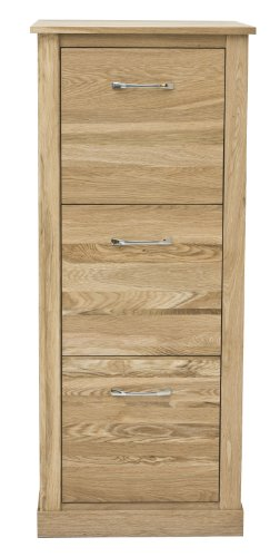 3 Drawer Filing Cabinet Mobel Solid Premium Oak