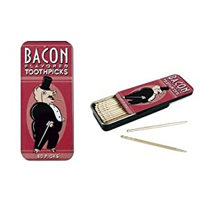 Bacon Flavored Toothpicks Accoutrements 80 Gift TIN Novelty GAG Gift