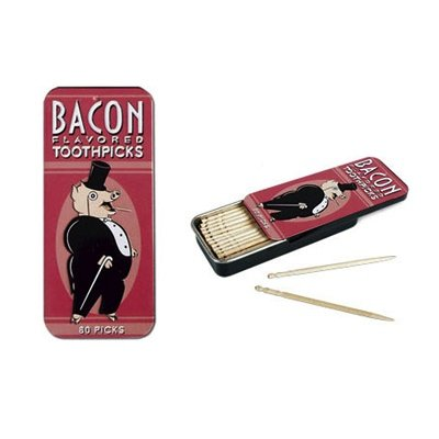 Bacon Flavored Toothpicks Accoutrements 80 Gift