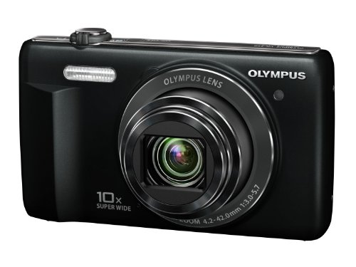 Olympus VR-340 Digital Compact Camera - Black (16MP, 10x Super Wide Optical Zoom) 3 inch LCD