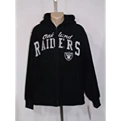 OAKLAND RAIDERS Mens FLEECE JACKET LARGE BLACK EMBROIDERED FULL ZIPP NWT!! by A-Team Apparel